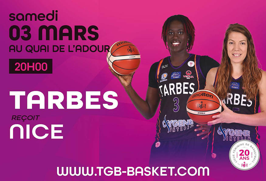 Affiche du match de basket TGB-Nice