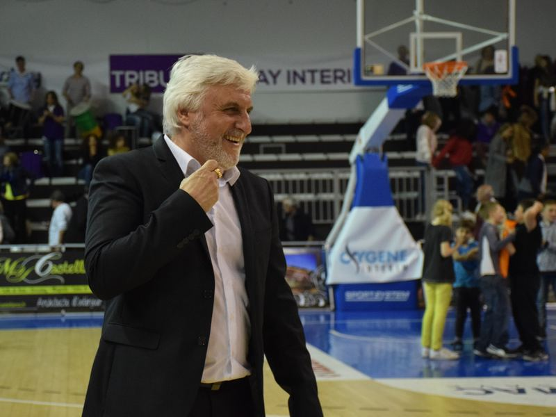 François Gomez, coach du TGB, heureux de la qualification en demi-finale.