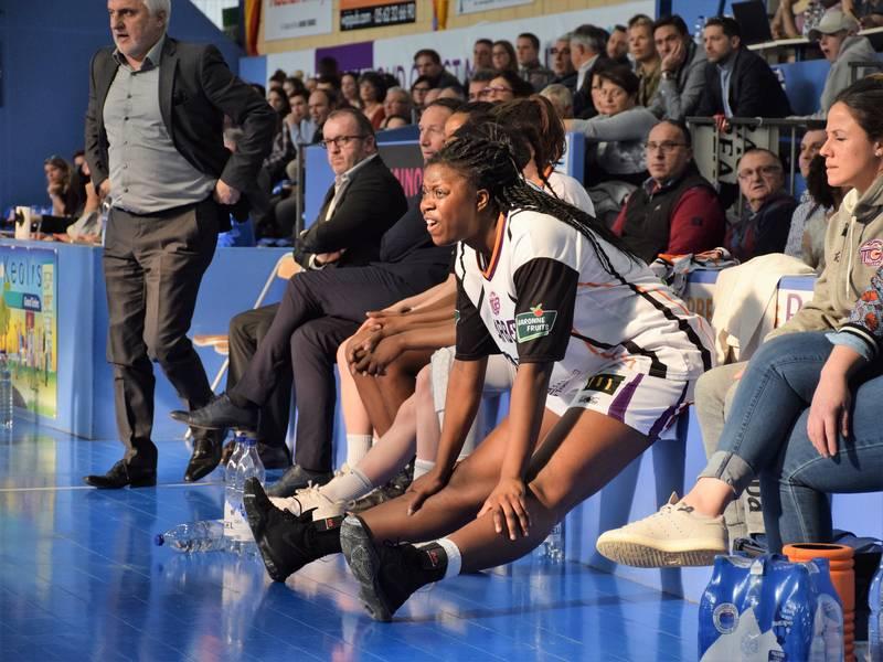 Christelle Diallo sur le banc