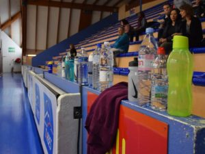 bouteilles tribunes detection basket TGB tarbes